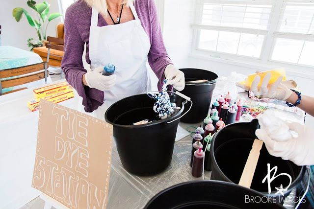 Tie Dye Onesie Station For A Boho Chic Baby Shower Blue Jay