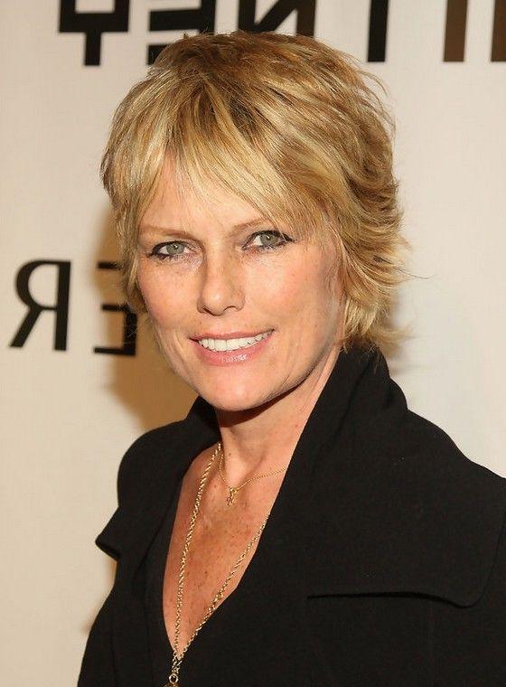 Patti Hansen Short Layered Razor Hairstyle for Women Over
