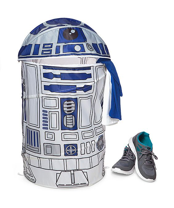 this star wars laundry hamper is a droid that is happy to serve throw your laundry in to keep your room tidy what other robot would help you with your