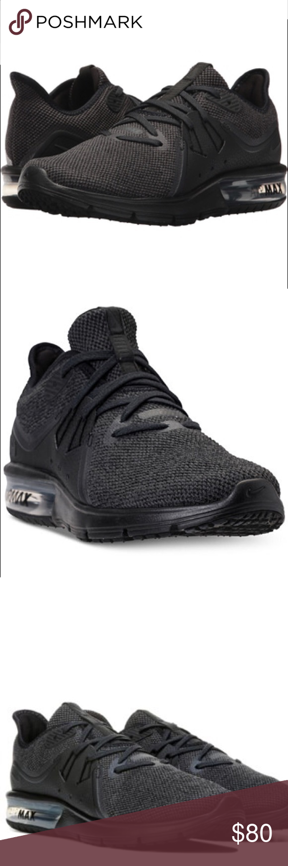 Mujeres Nike Air Air Max Sequent 3 Size 8 Negro Air Air Max Deportivo 874d94