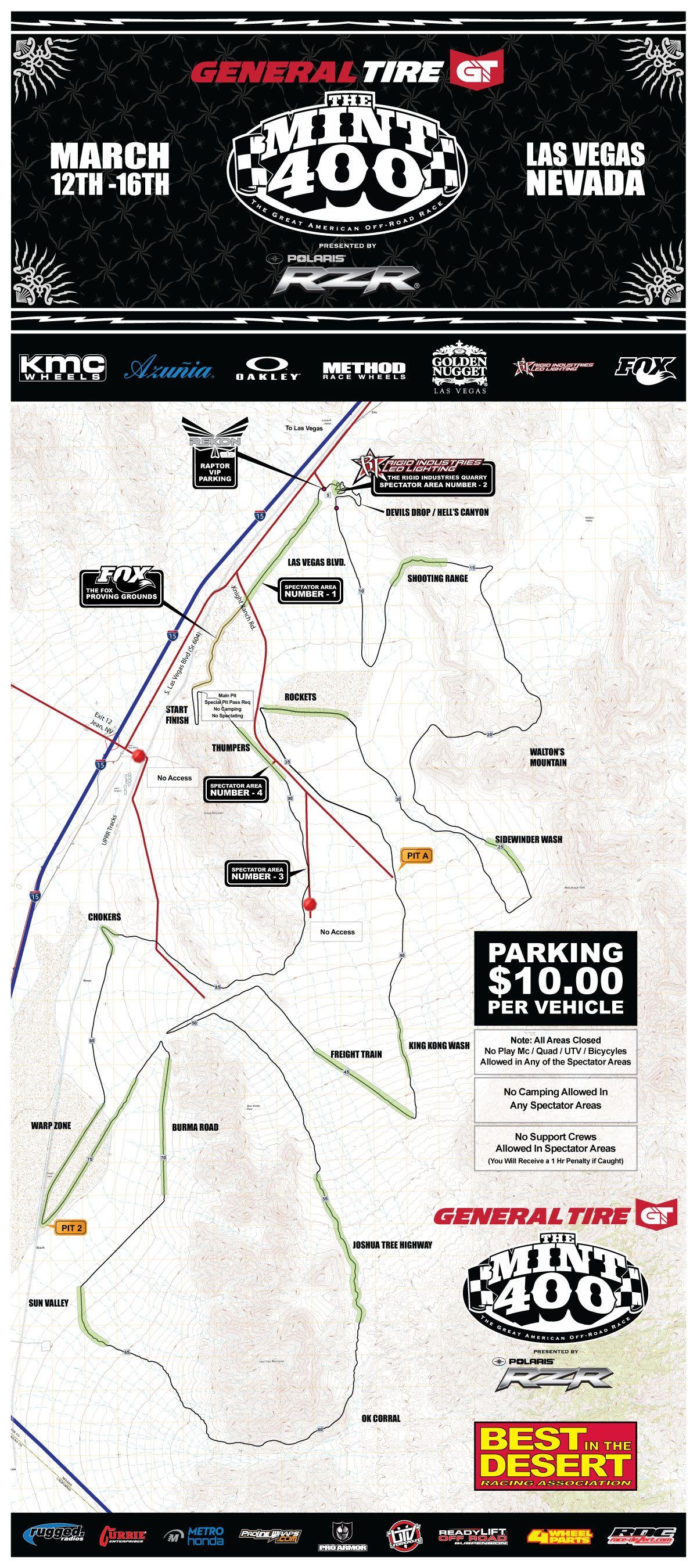 2014 Mint 400 Race Map The Mint 400 Mint 400