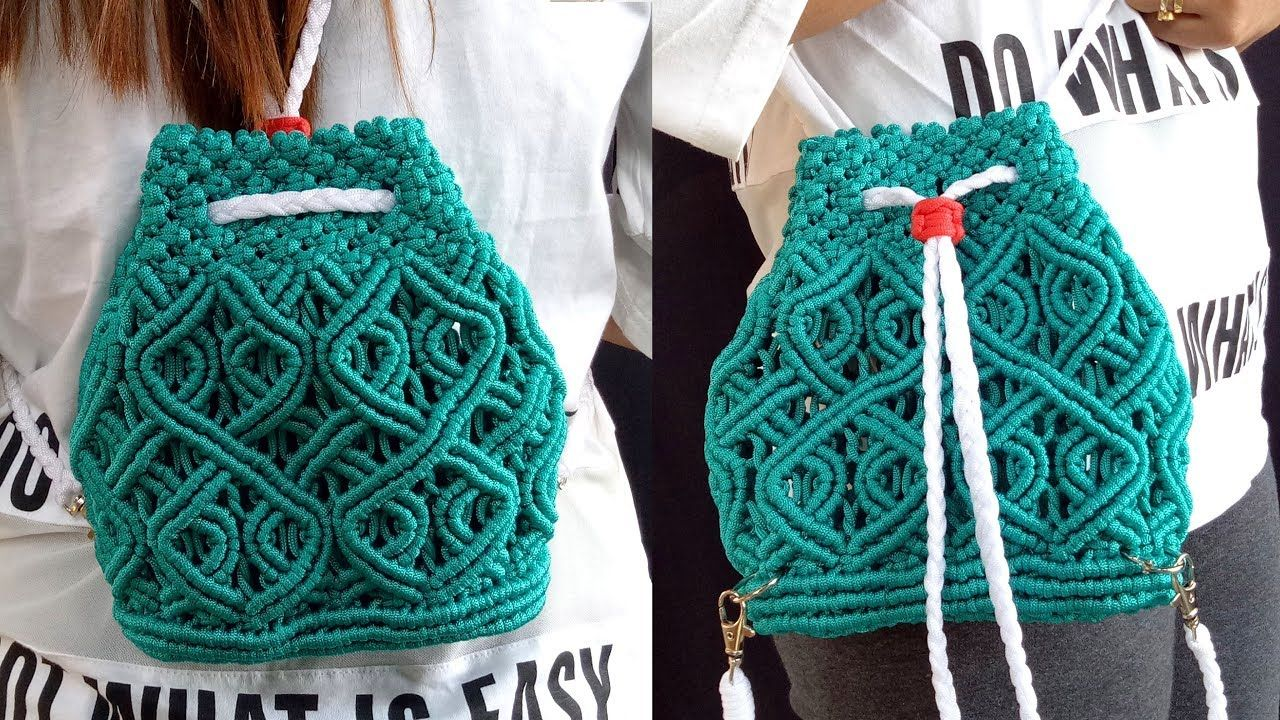 Macrame Bag New Design | Handmade Macrame Bag | DIY Macrame Backpack Tutorial