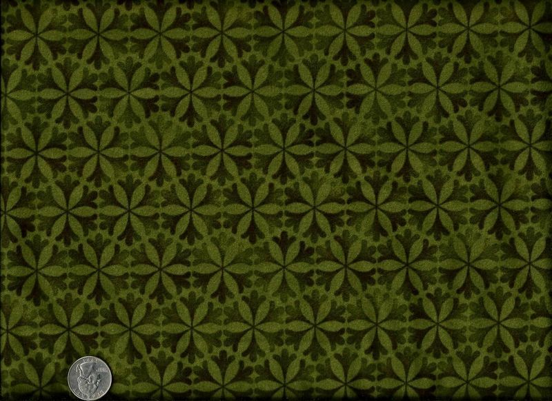Cotton Quilt Fabric Flannel Flowers Of The Forest Green Leaf 1/2 ... : flannel quilt fabric - Adamdwight.com