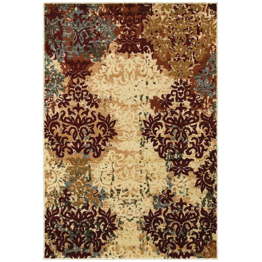 With this LNR Home Grace LR81119 Red Rug in your room, your interior decor will really shine. Featuring a floral design, this beige and taupe rug brings contemporary style to your home. This rug is made of frise soft olefin yarn for a soft pile.