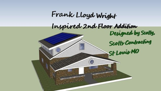 Frank Lloyd Wright Inspired 2nd Floor Room Additon - 3D Warehouse