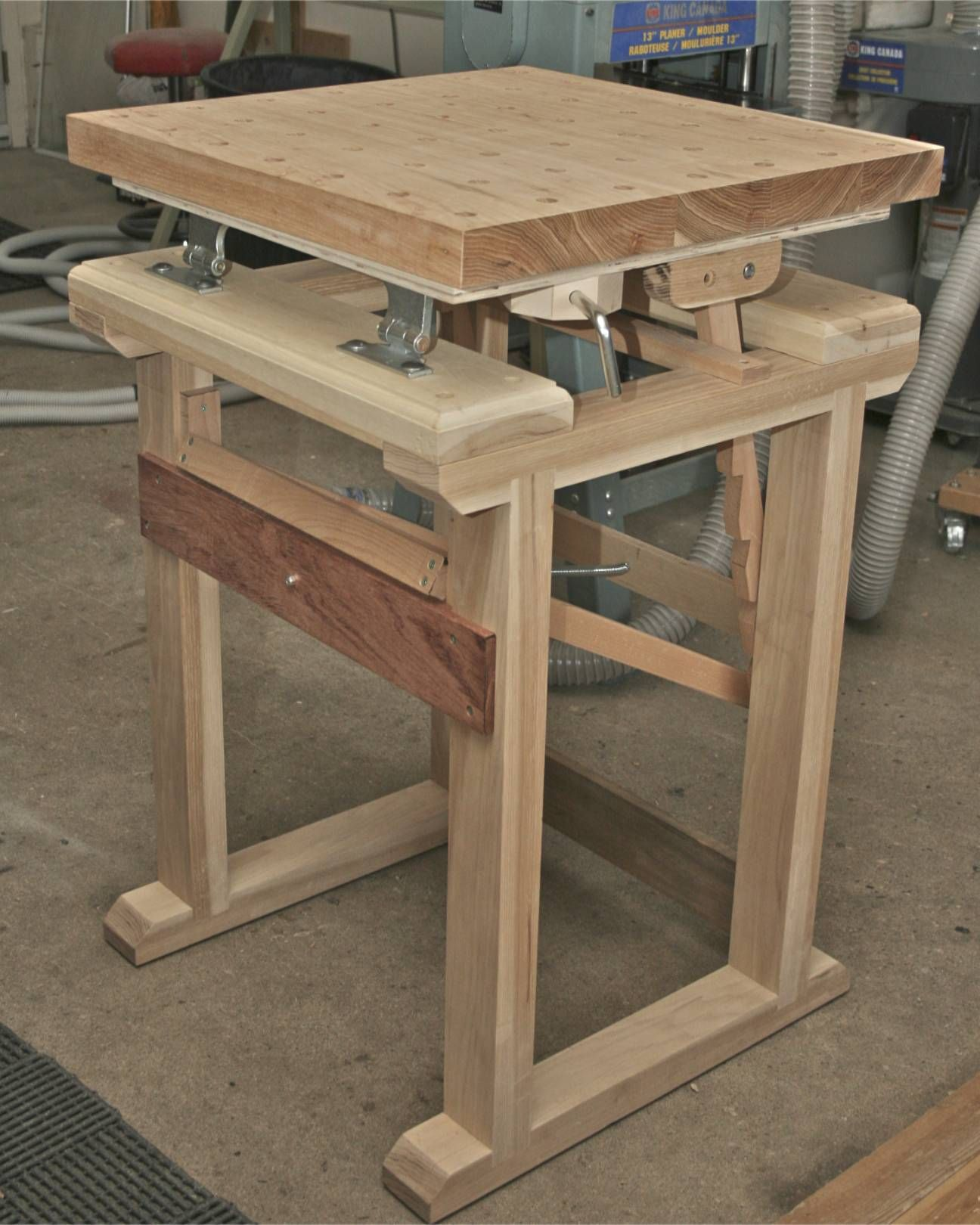 innovative wood carving table design