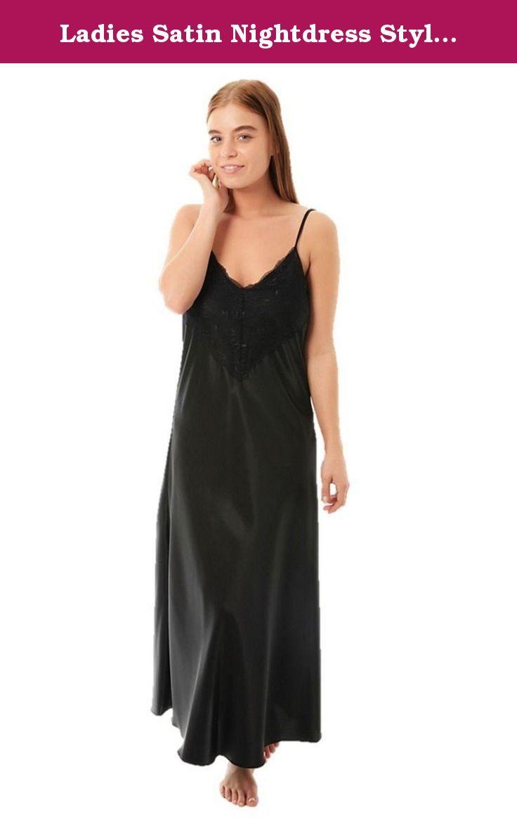 f2c81ddc5a Ladies Satin Nightdress Style N50 Black Size 18-20. Ladies gorgeous long  satin nightdresses