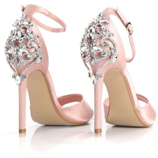 e3041543359 Aleema Jeweled Heel Blush ( 35) ❤ liked on Polyvore featuring shoes ...