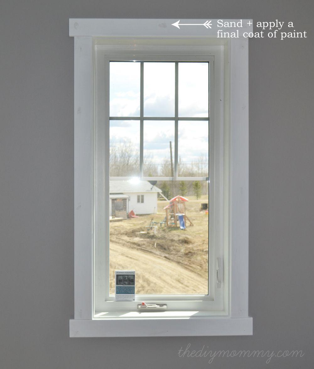 DIY Modern Easy Craftsman Window Trim  house  Pinterest  House