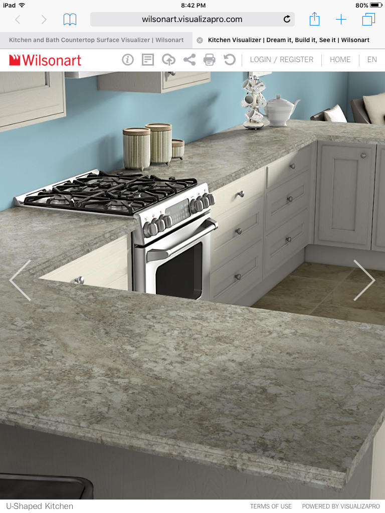 Wilsonate Spring Carnival Laminate Top Kitchen Remodel Small