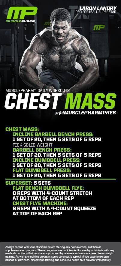 Muscle Pharm Workout Chest Mass