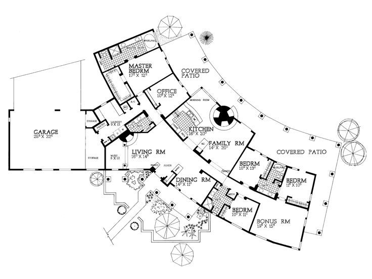 Golf course patio home plans for House plans for golf course lots