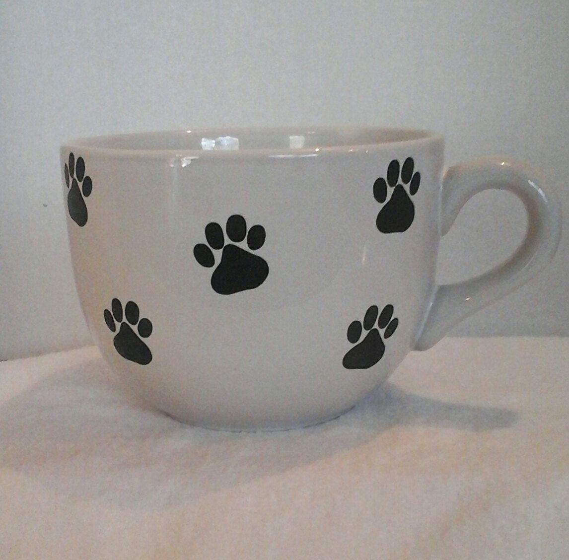 Adorable Puppy Paw Print Coffee / Hot Chocolate Cup / Mug