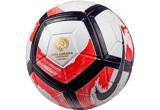 Nike Ordem Ciento Match Ball Copa America White Total Crimson Soccerpro Com Soccer Ball Soccer Nike Soccer Ball