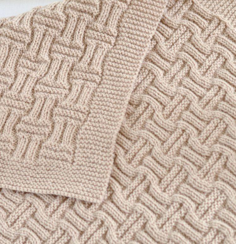 Easy Baby Blanket Knitting Patterns | Manta, Dos agujas y Tejido