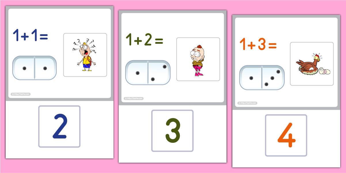 Maths Nombres et Calculs Cartes d'addition avec les ...