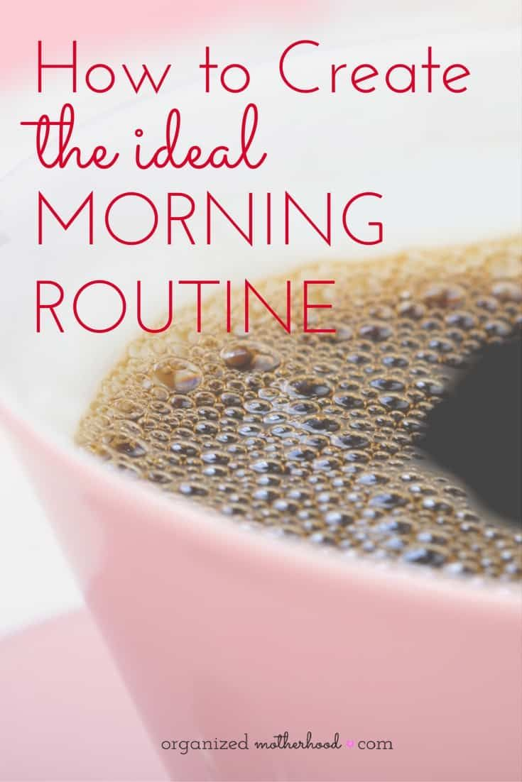 Getting into a routine and simplifying your