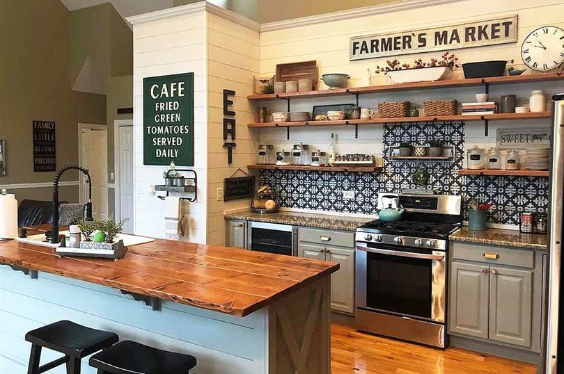 Open Shelving Kitchen Ideas Ultimate Guide Rustic Kitchen Rustic Kitchen Design Rustic Kitchen Island