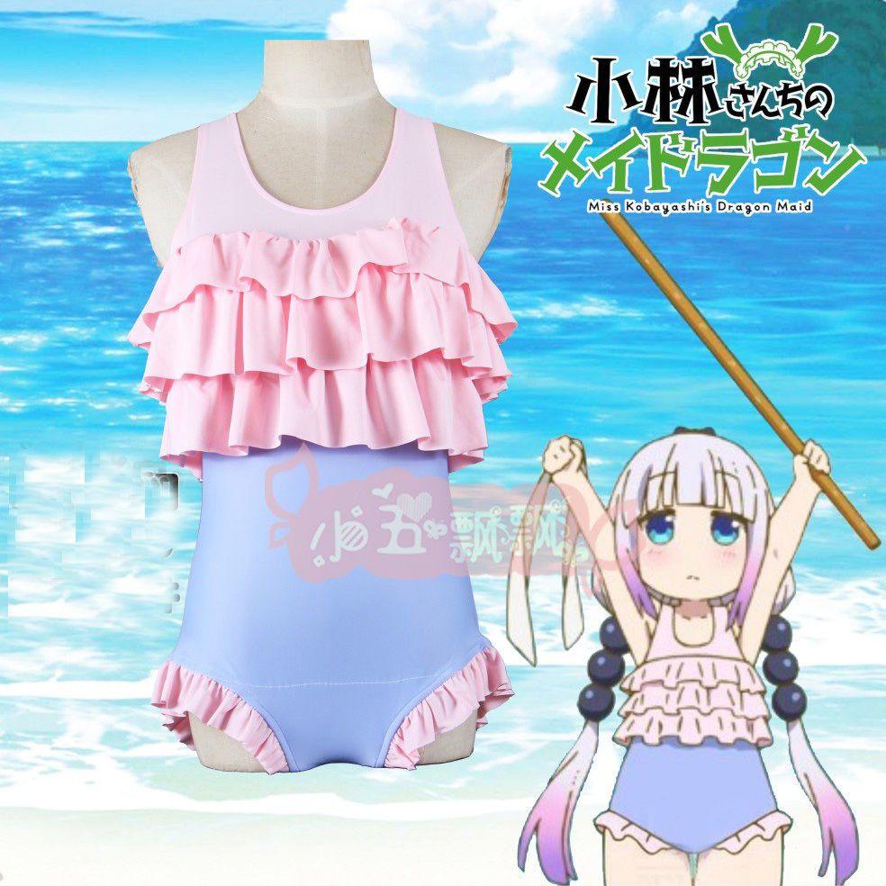 e10654918a Miss Kobayashi-San Chi No Maid Dragon Kamui Kanna Swimsuit Cosplay ...