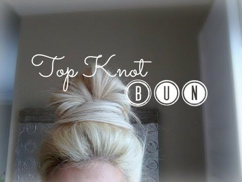 How To: Top Knot Bun (With Extensions) #topknotbunhowto How To: Top Knot Bun (With Extensions) - #extensions - #HairstyleLazyGirl #topknotbunhowto