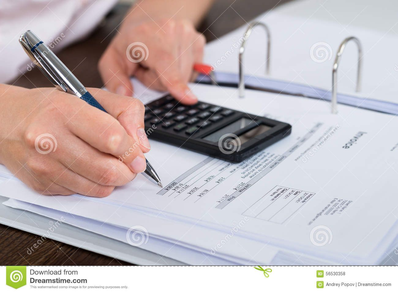 Accountant Doing Calculation Stock Photo Image of