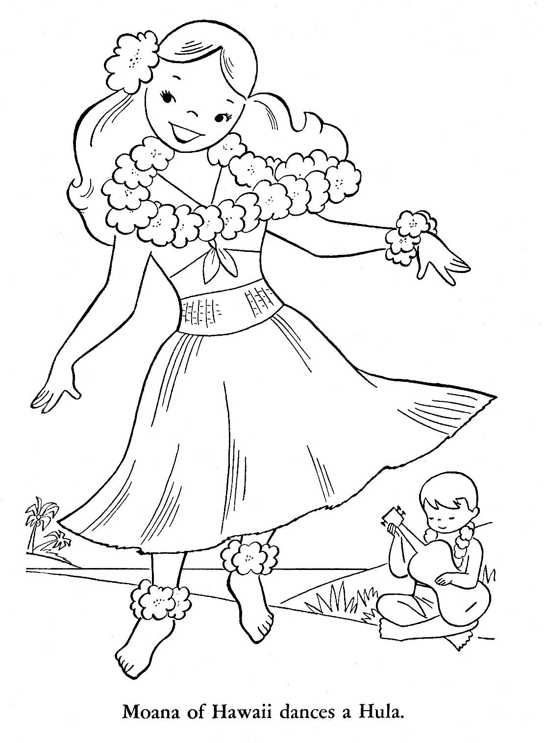 top 10 hawaiian coloring pages for toddler - Hawaii Coloring Pages