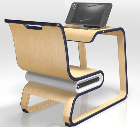 Modern Classroom Desks ~ Pcstudio creates a digital environment in modern