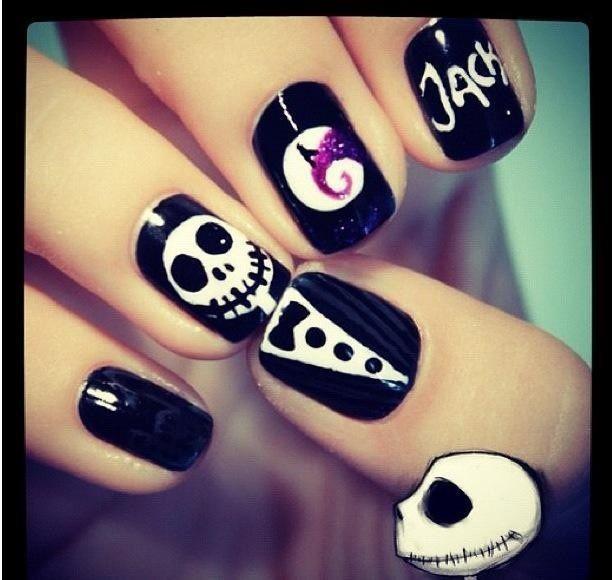 jack the pumpkin king nails - Google Search | Nail art | Pinterest