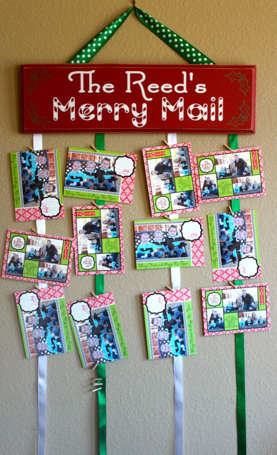 Merry Mail Christmas card hanger with 50 by PersonallyPoshDesign ...