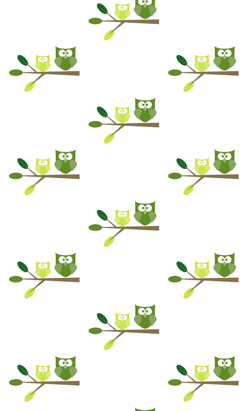 Green Owls fabric by fotomichelle on Spoonflower - custom fabric