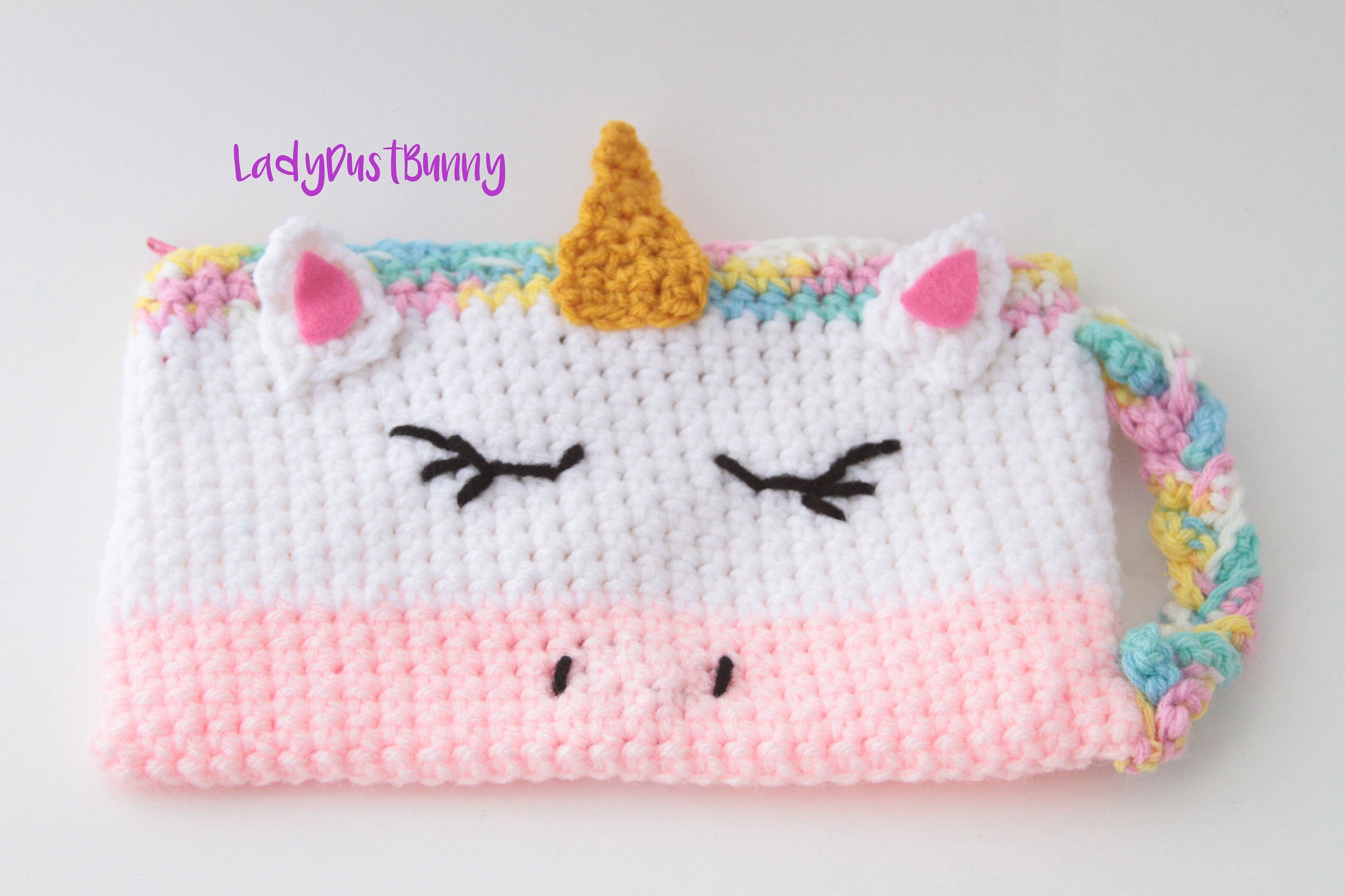 Crochet Unicorn Pattern Unicorn pencil case pattern crochet ...