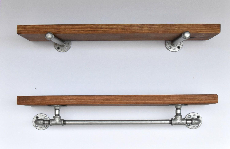 Industrial 30 Wide Floating Shelves Combination Floating Shelf