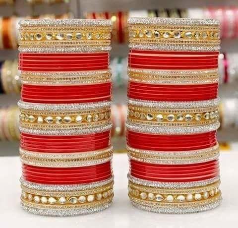 Punjabi churaa(•ᴗ•) Bridal chura, Bridal bangles, Bridal