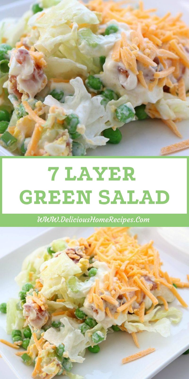 7 Layer Green Salad Layered Salad Recipes Seven Layer Salad Layered Salad