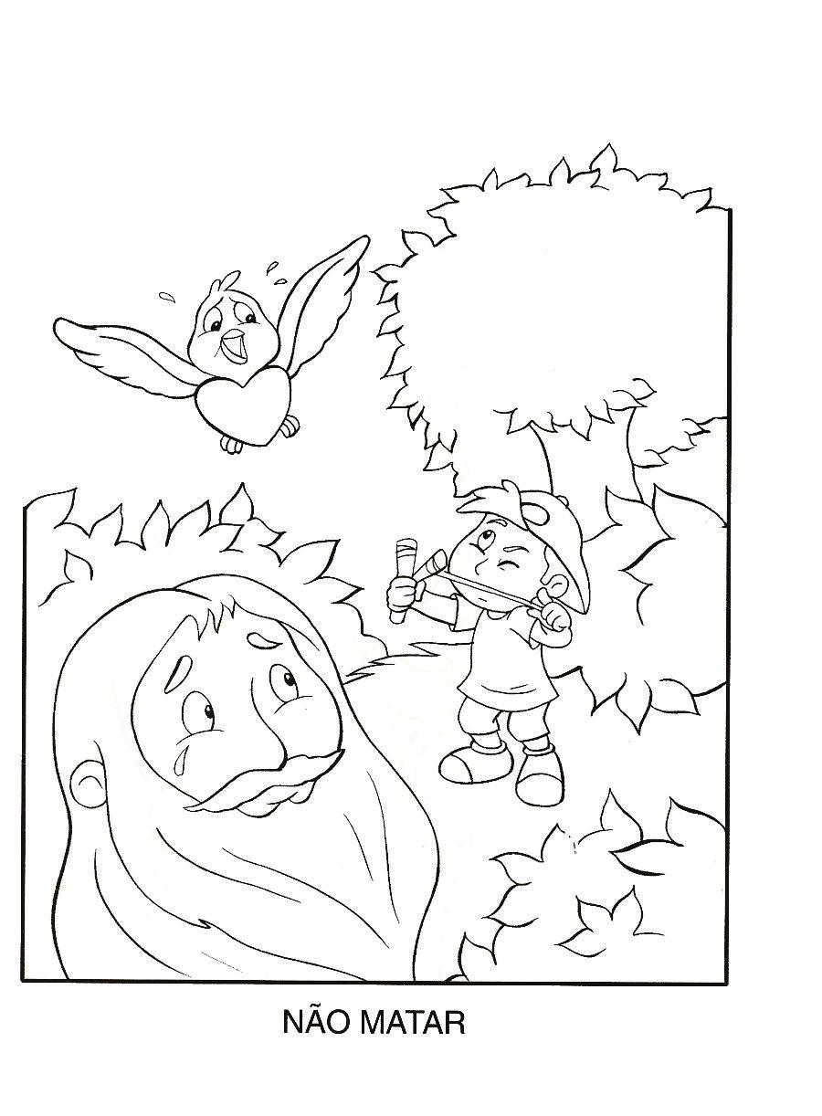 Mandamentos Para Colorir Com Imagens Ministerio Infantil