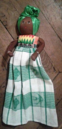 Essuie Mains à suspendre poupée Africaine 15 euros | Idées KDO ...