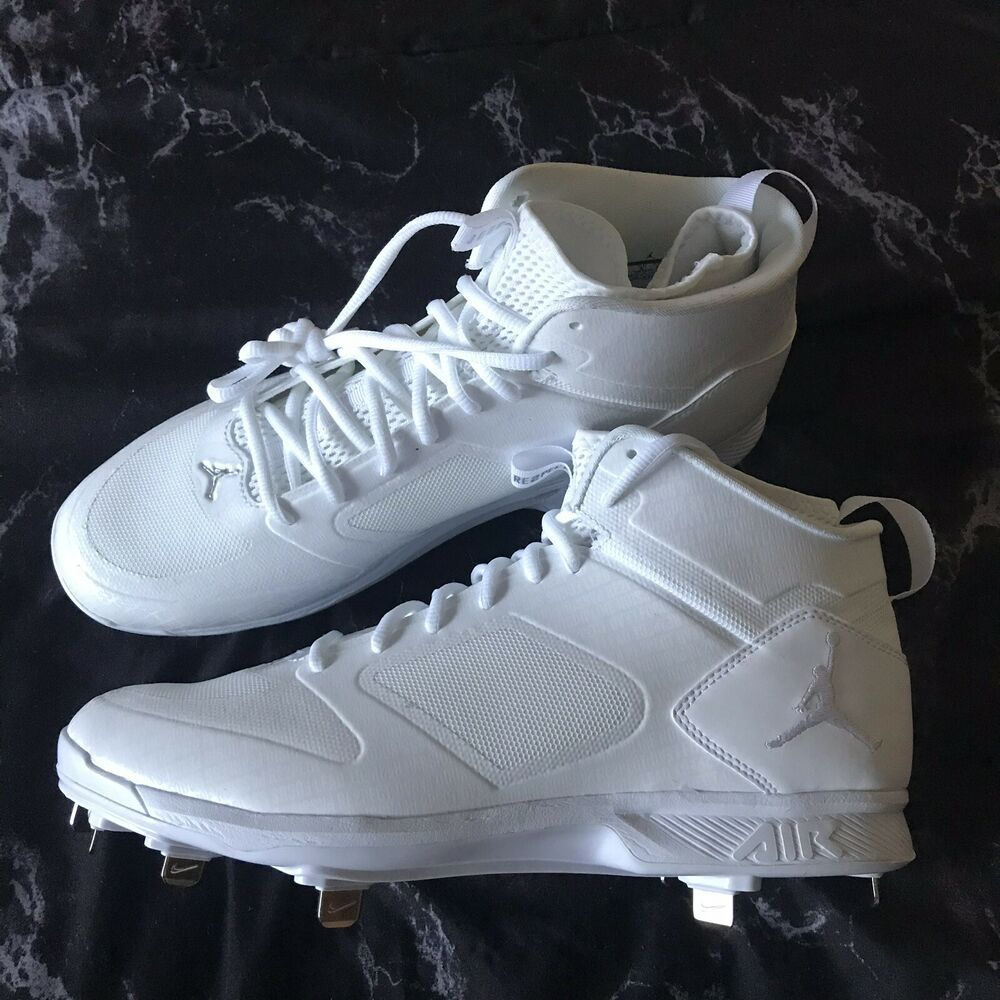 Can You Wear Baseball Cleats For Football Advertisement Ebay Nike Air Jordan Jeter Lux Re2pect Metal Baseball Cleats Size 10 White Ao2914 102 Baseball Cleats Jordan Cleats Air Jordans