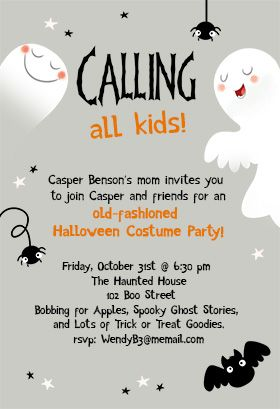 Calling All Kids Halloween Party Invitation Template Free Greetings Island Kids Halloween Party Invitations Halloween Party Invitation Template Party Invite Template