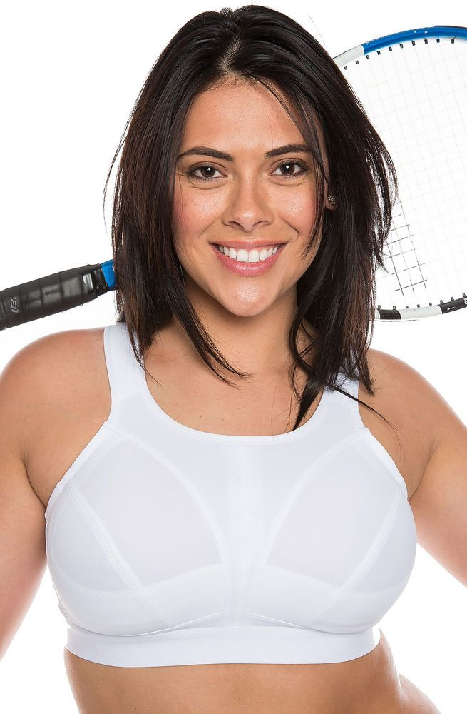 ddfe9928b5 New Ladies High Impact White Plus Size Sports Bra Non Wired Large Bosom  Sports bra available in UK sizes 34-46 cup size D-J. Non wired full cup.
