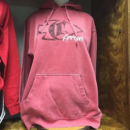 We've still got these #ComfortColors hoodies! Available in adult sizes - $30. #ClintonArrows