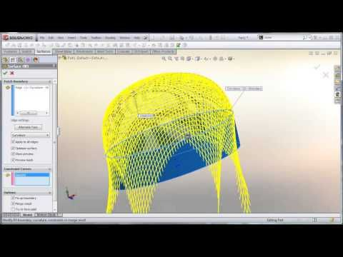 SolidWorks tutorial: Surface fill tips and tricks in