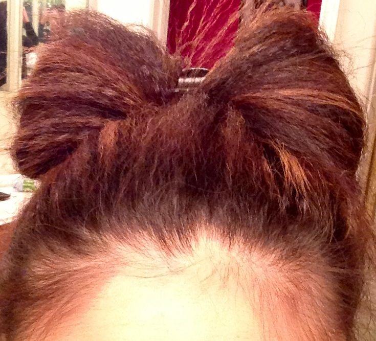 My krimped bow bun :)