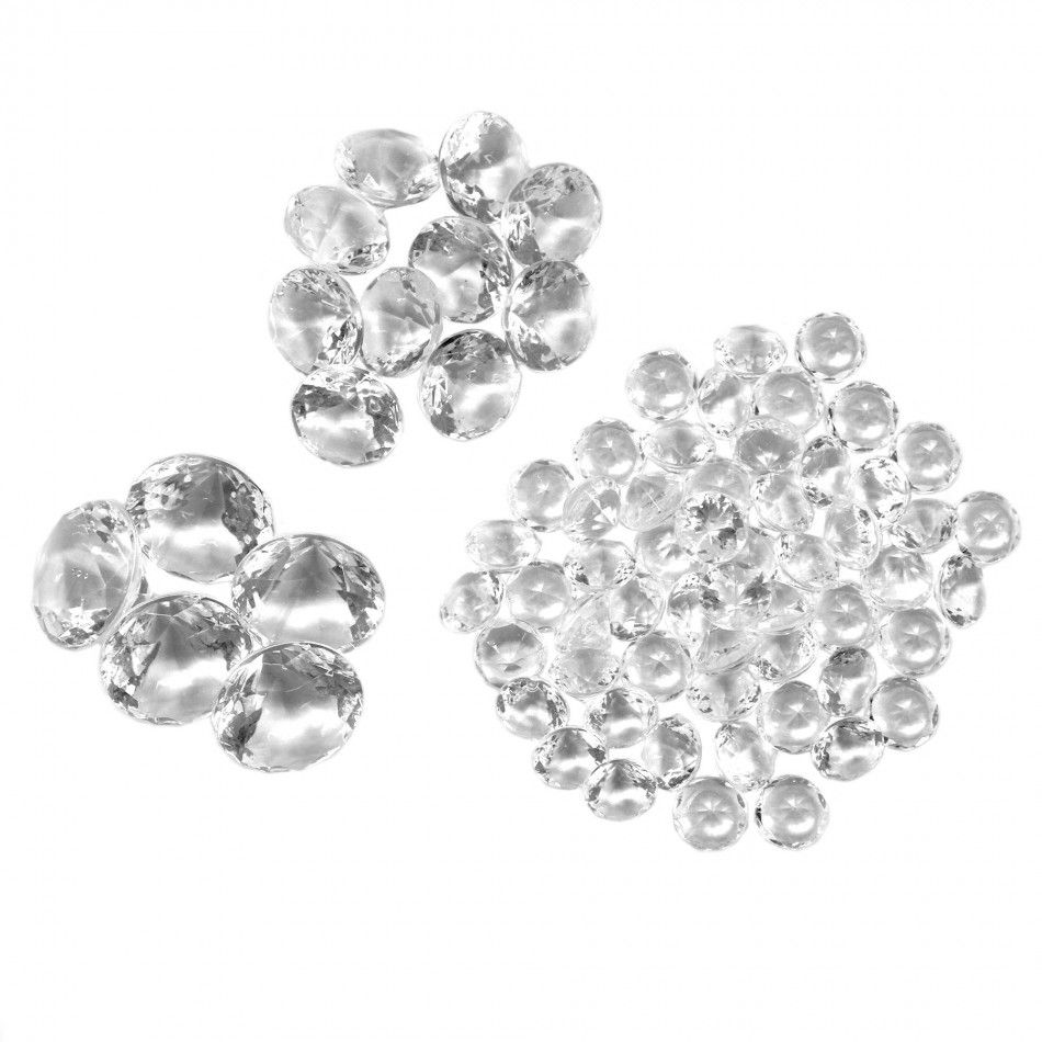 Assorted Sizes Table Diamond Decor - Clear [424280] : Wholesale ...