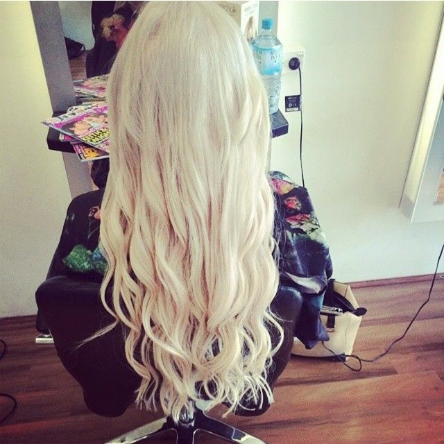 Zala Tape Hair Extensions In Ice Queen Platinum Blonde Hair