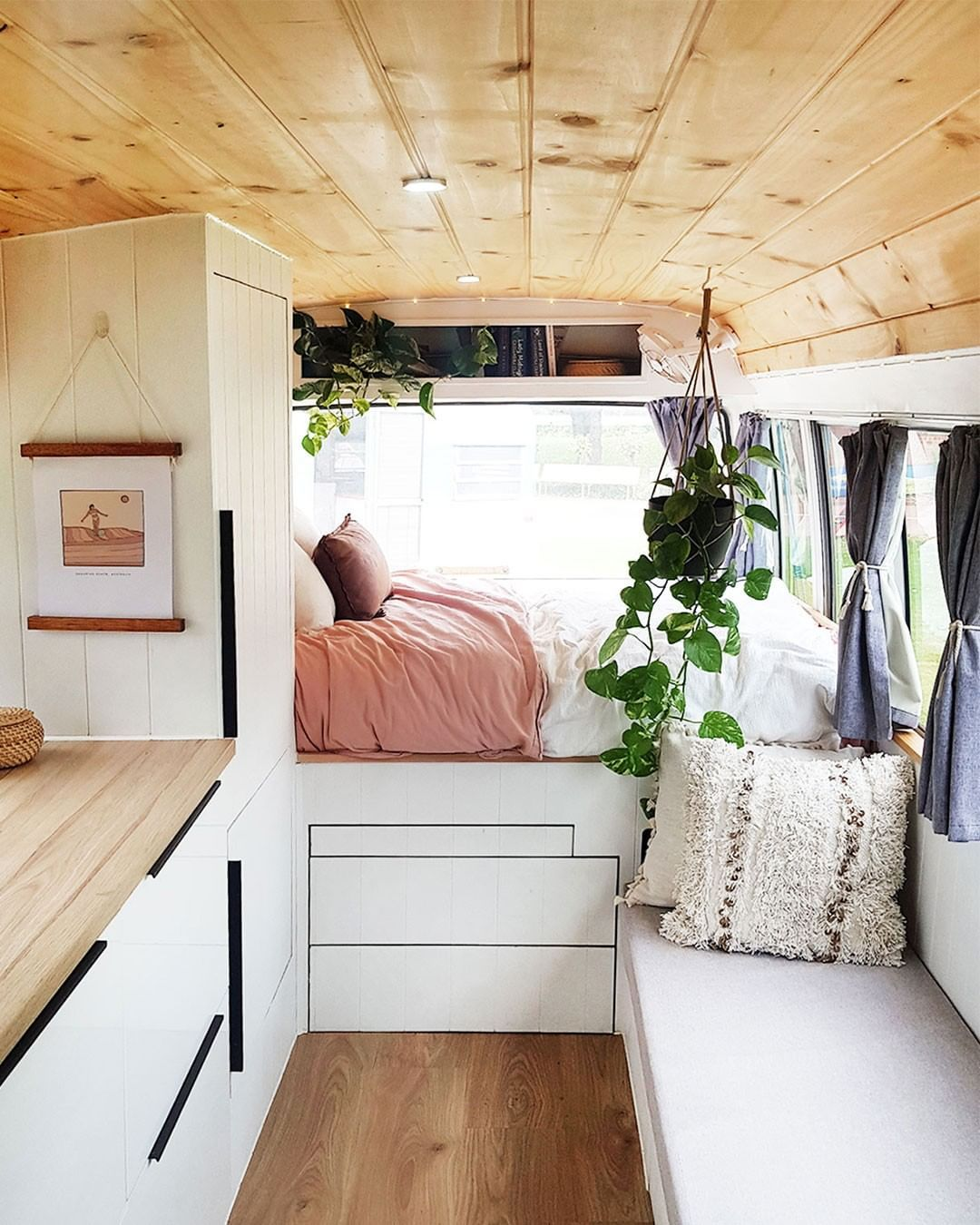 "The Design Files on Instagram: ""TINY HOMES · Meet the Australians embracing life on the road! _ LINK TO FULL STORY IN BIO ↖ Pic @civilian.life . . . #vanlife #vanlifers…"" #tinyhomes"