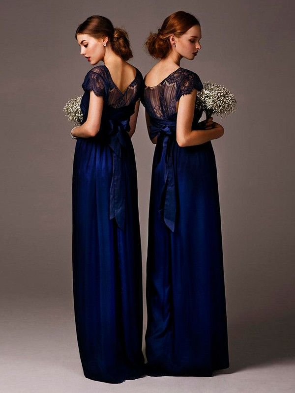 Custom Made Navy Blue Bridesmaid Dresses,Bridal Dress For