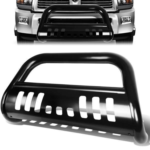 10-18 Dodge Ram 2500 3500 Bull Bar w/Skid Plate - Stainless Steel - Black