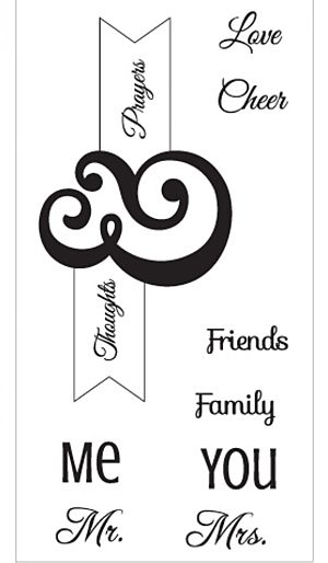 Sizzix Interchangeable Clear Stamps By Jen Long Me & You
