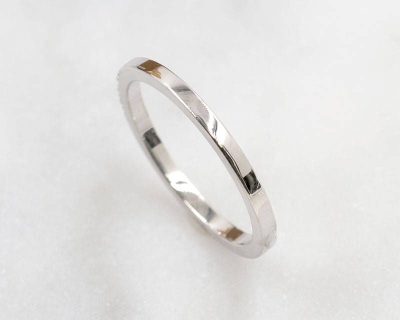 77 1 5 Mm Square Simple Band 14k Solid White Gold Wedding Women S
