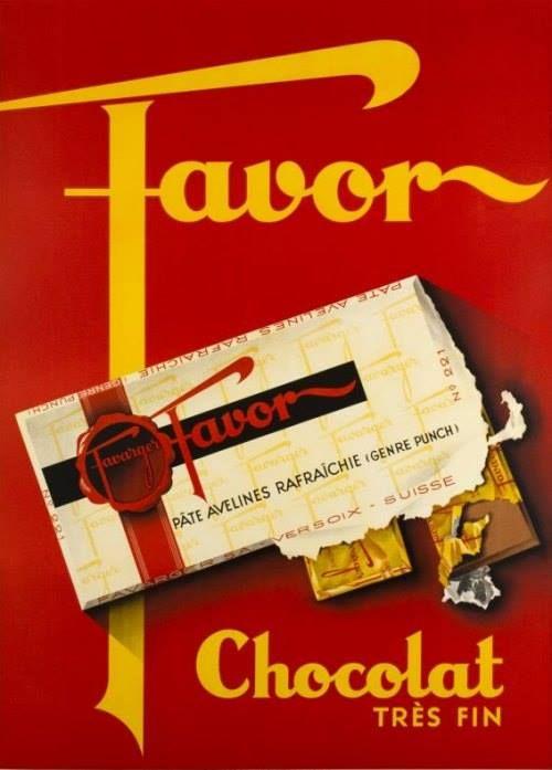 Réclame d'autrefois (1935) : Chocolat Favor